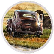 Old Plymouth Round Beach Towel