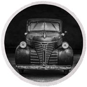 Old Plymouth Truck Square Round Beach Towel