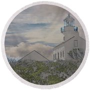 Old Point Loma Lighthouse Round Beach Towel