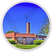 Old Police Headquarters Round Beach Towel