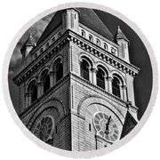 Old Post Office Pavilion Tower #2 Round Beach Towel