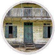 Old River House Round Beach Towel