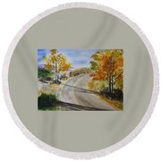Old Road Round Beach Towel