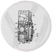 Old Rollie Vintage Camera T-shirt Round Beach Towel