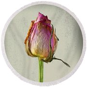 Old Rose On Paper Round Beach Towel