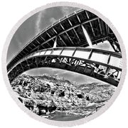 Old Salt River Bridge - Arizona Round Beach Towel
