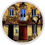 Old Semidetached Houses Round Beach Towel