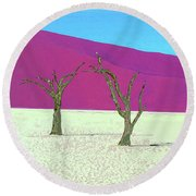 Old Soldiers Round Beach Towel
