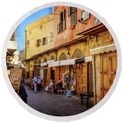 Old Souk Of Sidon Round Beach Towel