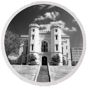Old State Capital - Infared Round Beach Towel