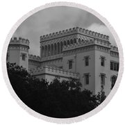 Old State Capitol Round Beach Towel