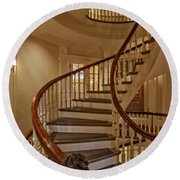 Old State House Spiral Staircase Round Beach Towel