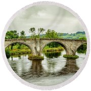Old Stirling Bridge Round Beach Towel