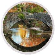 Old Stone Bridge Over Fountain Creek 2 Round Beach Towel
