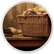 Old Style Laundry Round Beach Towel
