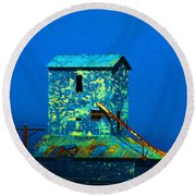 Old Texas Mill Round Beach Towel