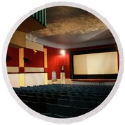 Old Theater Interior 1 Round Beach Towel by Marilyn Hunt
