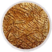 Old Thoughts - Tile Round Beach Towel