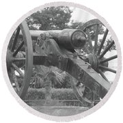 Old Time Cannon Round Beach Towel