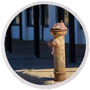 Old Time Hydrant Round Beach Towel