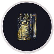 Old Town Hastings Round Beach Towel