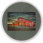 Old Town Mall Bandon Round Beach Towel