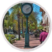 Old Town Santa Barbara Round Beach Towel
