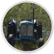 Old Tractor 6 Round Beach Towel