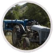 Old Tractor 7 Round Beach Towel