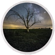 Old Tree  Round Beach Towel