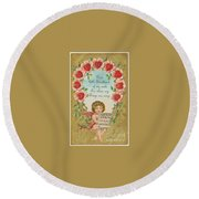 Old Valentine Design Four Round Beach Towel
