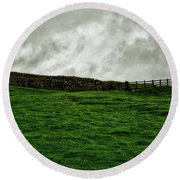 Old Wall, New Gate Round Beach Towel