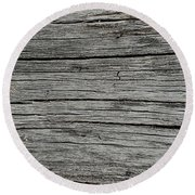 Old Weathered Wood Board Round Beach Towel