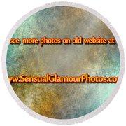 Old Website Round Beach Towel