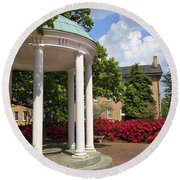 Old Well At Chapel Hill In Spring Round Beach Towel