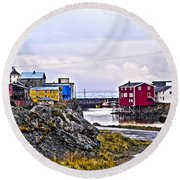 Old Whaling Village Nyksund Round Beach Towel