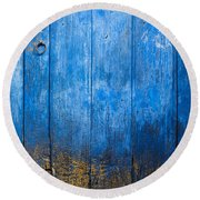 Old Wooden Door Round Beach Towel