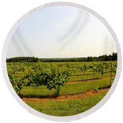 Old York Winery Round Beach Towel