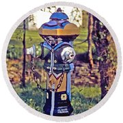 Oldenburg Fireplug Round Beach Towel