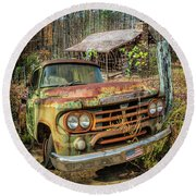Oldie But Goodie 1959 Dodge Pickup Truck Round Beach Towel