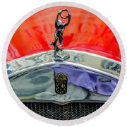 Oldtimer Prague 5 Round Beach Towel