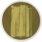 Olive On Olive 1 Round Beach Towel