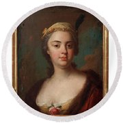 Olof Arenius, Ulrika Eleonora Ribbing Af Zernava 1723-1787 Round Beach Towel