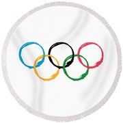 Olympic Ensos Round Beach Towel