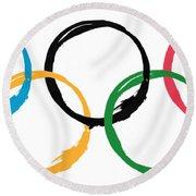Olympic Ensos Round Beach Towel