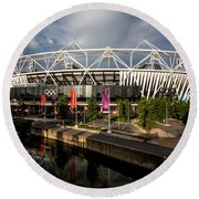 Olympic Stadium Round Beach Towel