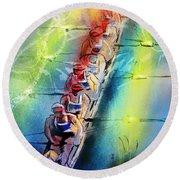 Olympics Rowing 02 Round Beach Towel