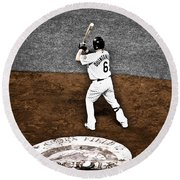 Omar Quintanilla Pro Baseball Player Round Beach Towel