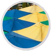 Umbrella  Heaven  Round Beach Towel