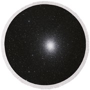 Omega Centauri Globular Star Cluster Round Beach Towel